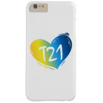 T21 Down Syndrome Awareness Barely There iPhone 6 Plus Case