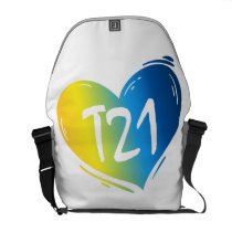 T21 Down Syndrome Awareness Courier Bag