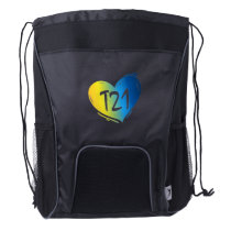T21 Down Syndrome Awareness Drawstring Backpack