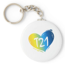 T21 Down Syndrome Awareness Keychain
