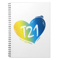 T21 Down Syndrome Awareness Notebook