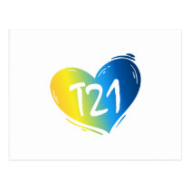 T21 Down Syndrome Awareness Postcard