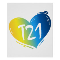 T21 Down Syndrome Awareness Poster