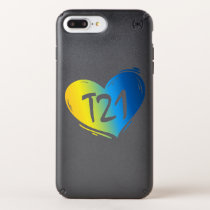 T21 Down Syndrome Awareness Speck iPhone Case