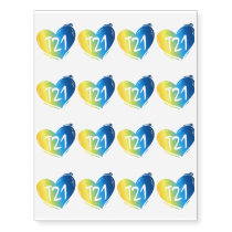 T21 Down Syndrome Awareness Temporary Tattoos