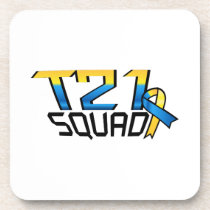 T21 Squad Down Syndrome Awareness Beverage Coaster