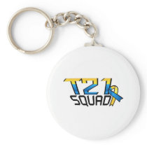 T21 Squad Down Syndrome Awareness Keychain
