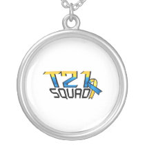 T21 Squad Down Syndrome Awareness Silver Plated Necklace
