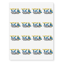 T21 Squad Down Syndrome Awareness Temporary Tattoos