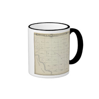 T21S R22E Tulare County Section Map Ringer Coffee Mug