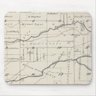 T21S R25E Tulare County Section Map Mousepads