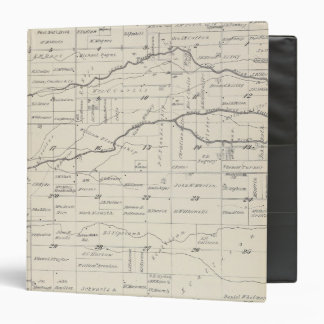 T21S R25E Tulare County Section Map Vinyl Binders