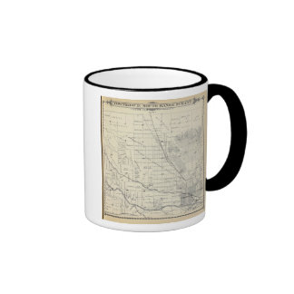 T21S R27E Tulare County Section Map Ringer Coffee Mug