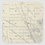 T21S R27E Tulare County Section Map Square Sticker