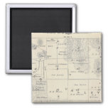 T21S R28E Tulare County Section Map 2 Inch Square Magnet