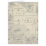 T21S R28E Tulare County Section Map Greeting Card