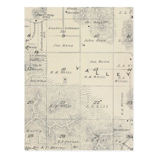 T21S R28E Tulare County Section Map Postcard