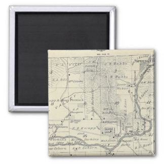 T21S R29E Tulare County Section Map 2 Inch Square Magnet