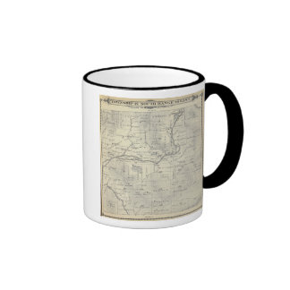 T21S R29E Tulare County Section Map Ringer Coffee Mug