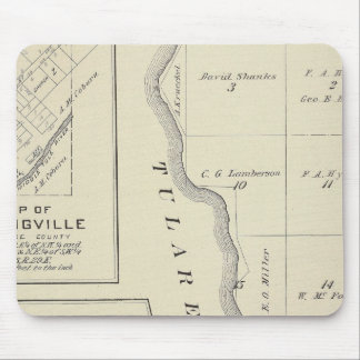 T22S R22E Tulare County Section Map Mouse Pad