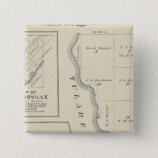 T22S R22E Tulare County Section Map Pinback Button