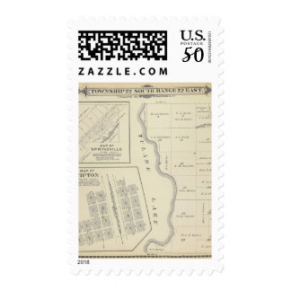 T22S R22E Tulare County Section Map Postage