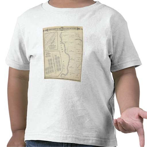 T22S R22E Tulare County Section Map T-shirts