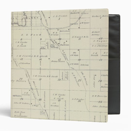 T22S R23E Tulare County Section Map Binder