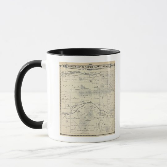 T22S R28E Tulare County Section Map Mug