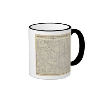 T22S R29E Tulare County Section Map Ringer Coffee Mug