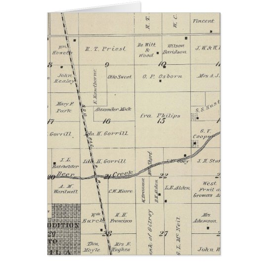 T23S R25E Tulare County Section Map Card