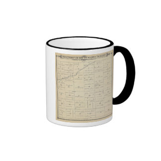 T23S R26E Tulare County Section Map Ringer Coffee Mug