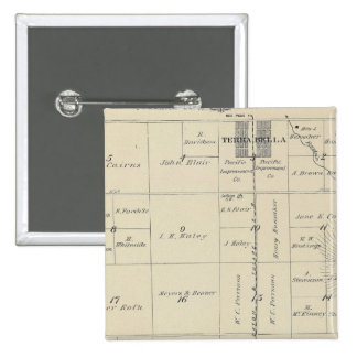 T23S R27E Tulare County Section Map Pinback Button