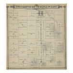 T23S R27E Tulare County Section Map Poster