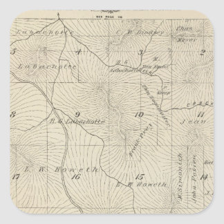 T23S R29E Tulare County Section Map Square Sticker
