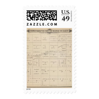 T24S R21E Tulare County Section Map Postage