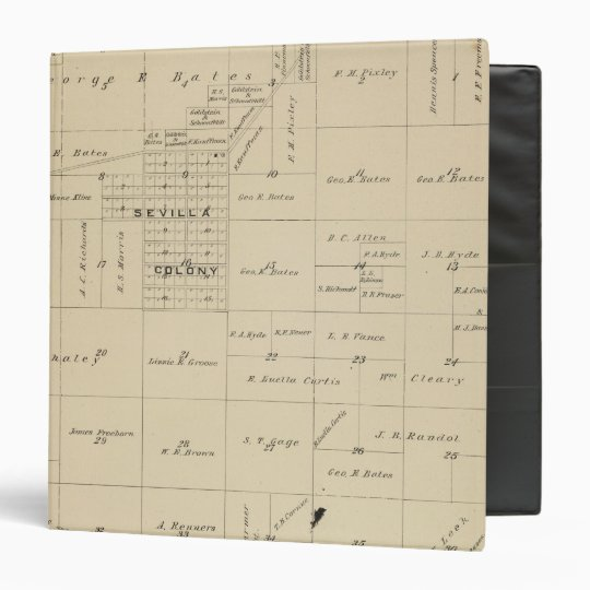 T24S R23E Tulare County Section Map Binder