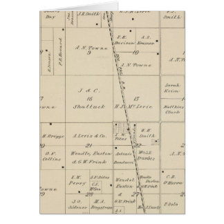 T24S R25E Tulare County Section Map Greeting Card