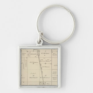 T24S R25E Tulare County Section Map Key Chains