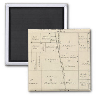 T24S R25E Tulare County Section Map Magnets