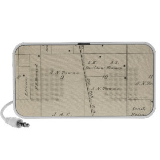 T24S R25E Tulare County Section Map Mini Speaker
