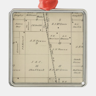 T24S R25E Tulare County Section Map Christmas Tree Ornaments