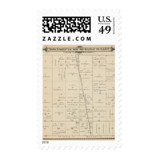 T24S R25E Tulare County Section Map Postage