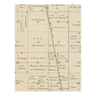 T24S R25E Tulare County Section Map Postcard