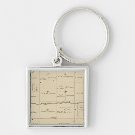T24S R26E Tulare County Section Map Keychain