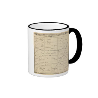 T24S R26E Tulare County Section Map Ringer Coffee Mug