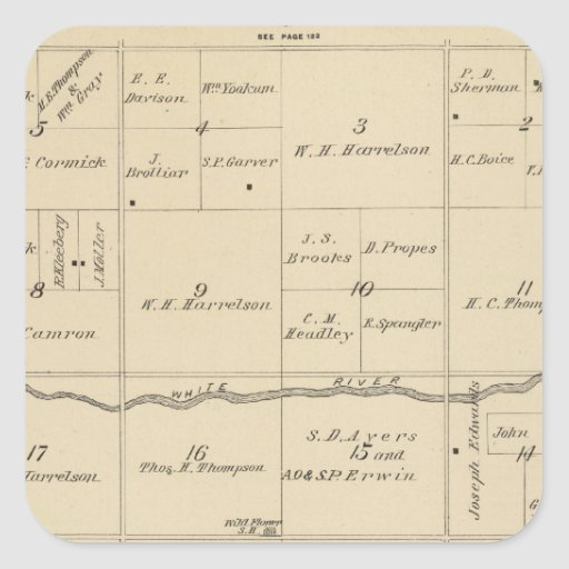T24S R26E Tulare County Section Map Sticker