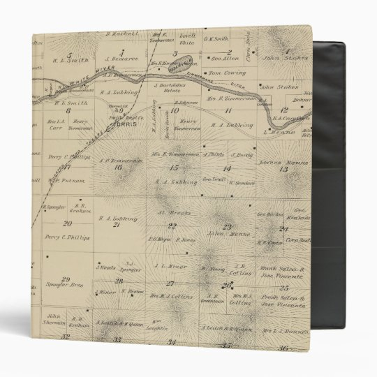 T24S R27E Tulare County Section Map Binder