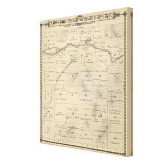 T24S R27E Tulare County Section Map Canvas Print
