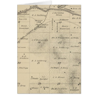 T24S R27E Tulare County Section Map Greeting Card